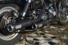 Verstellbare Auspuff Sportster 883 schwarz; Bj. 2004 - 2013