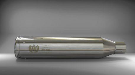 Radius Endkappen für Sportster, Dyna und Softail Modelle.  Serienteil bei schwarzen Auspuff