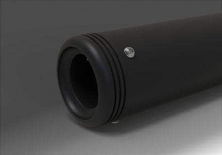 Radius Black Endkappen für Sportster, Dyna und Softail Modelle.
