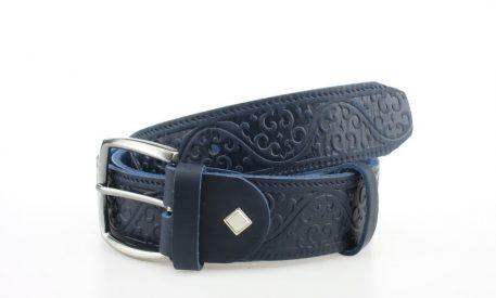 HohmannCustom Ledergürtel für Bikerinnen Blau