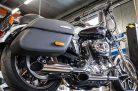 Hohmann adjustable exhaust Sportster 883;  Year Built.:  2004 - 2013; presented byKern